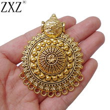 ZXZ 2 шт. Античное золото большой Бохо Племенной многожильный ожерелье соединитель Подвески для изготовления ювелирных изделий