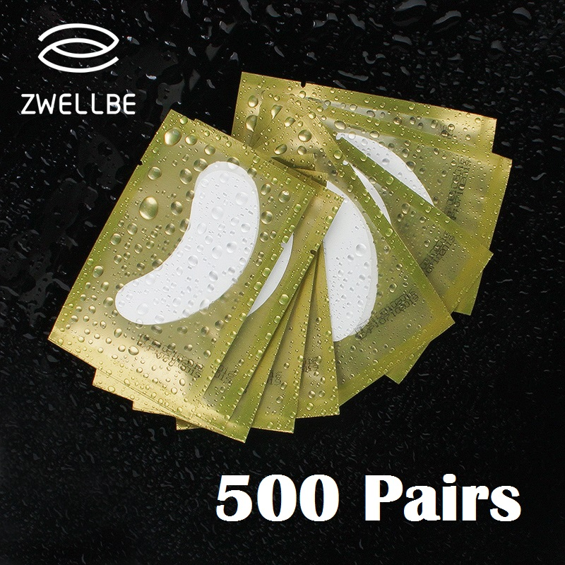 500 Pairs/Pack Under Eye Pads Lash Eyelash Extension Paper Patches New Paper Patches Eyelash Eye Tips Sticker Wraps Make Up Tool-in False Eyelashes from Beauty & Health    1