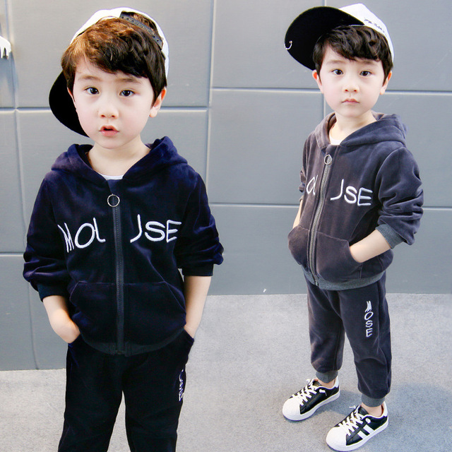 Children Clothing 2018 Autumn Winter Boys Clothes Hoodies+Pants Christmas  Outfit Toddler Boys Clothing Set - Children Clothing 2018 Autumn Winter Boys Clothes Hoodies+Pants
