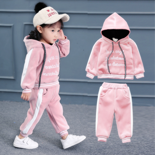 eb1f9e58f 2018 Female Baby Winter Clothing Suit Little Girls Cashmere ...
