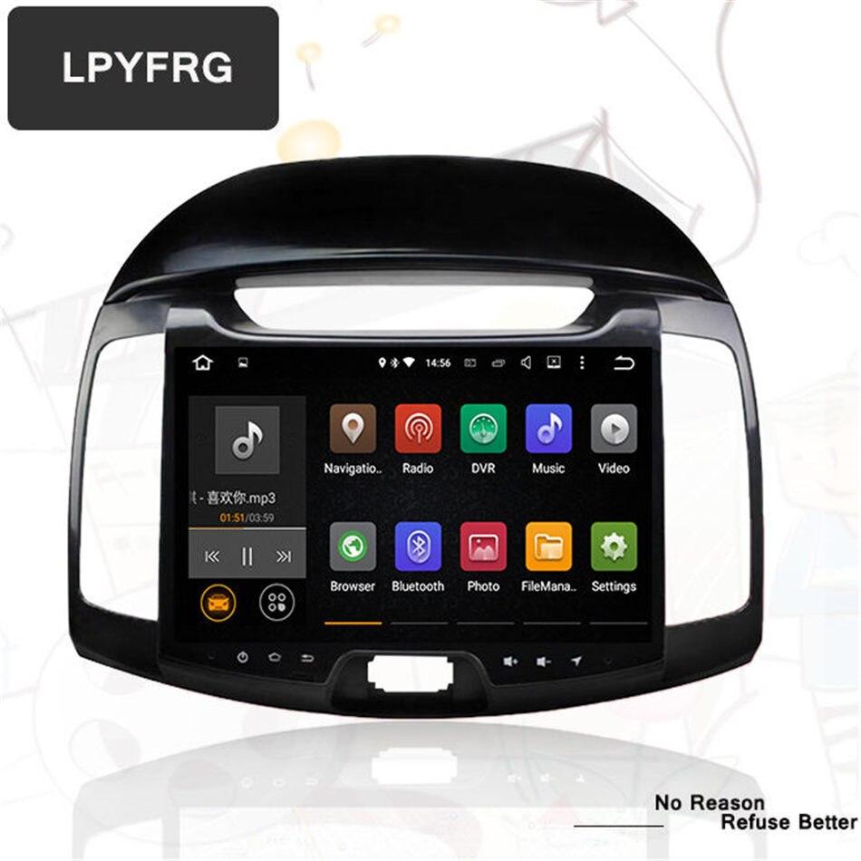Android 7 1 car dvd player for hyundai elantra 2008 09 2010 2011 bluetooth gps navigation video radio map rear camera headunit