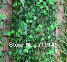 48pcs artificial  Boston ivy leaves vine Virginia creeper green leaf plants home garden supermarket decoration