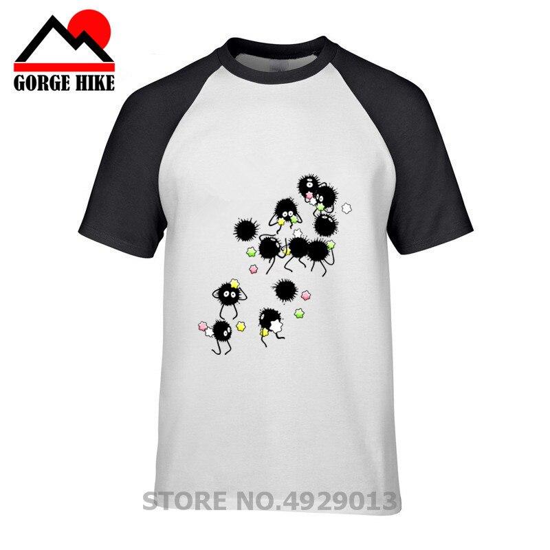 7078c7fc835 2019 новые Унесенные призраками Тоторо сажи спрайты футболка для мужчин  природа хлопковые футболки модные короткий рукав Футболка брендовая.