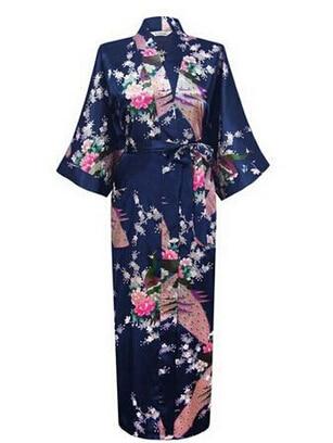 Robes de casamento de cetim rb015, camisola feminina kimono longa de raiom