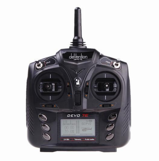 ФОТО Free Shipping Original Walkera DEVO 7E 2.4G 7CH DSSS Radio Control Transmitter for RC Helicopter Airplane