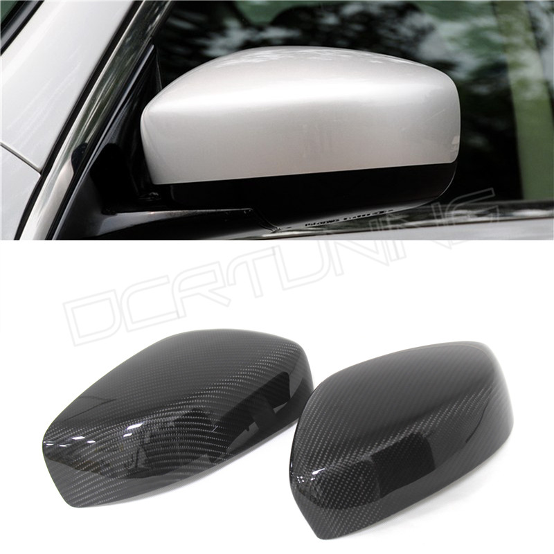 Add On style & Replacement Style Carbon Fiber Mirror Cover For Infiniti G37 G25 Side View Mirror Caps G Series Coupe 2009 - 2014 for cadillac ats full add on style carbon fiber mirror covers 2014 2015
