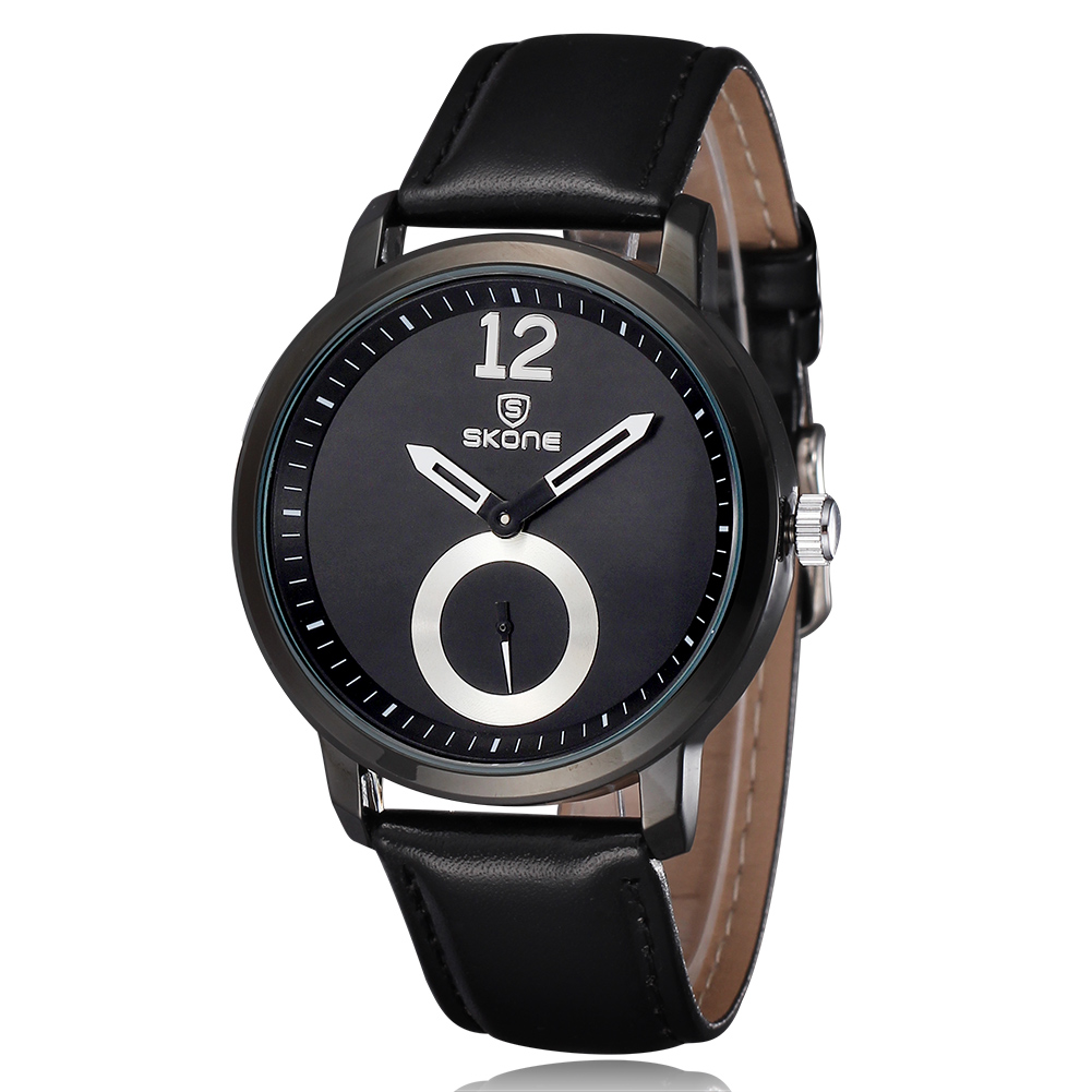 ФОТО SKONE Luxury Watch Men Sport Luxury Casual Quartz Hour Clock Leather Strap Dress Wristwatch Relogio Masculino Men Gifts Relogio