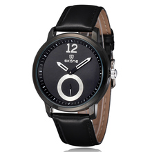 SKONE Luxury Watch Men Sport Luxury Casual Quartz Hour Clock Leather Strap Dress Wristwatch Relogio Masculino Men Gifts Relogio