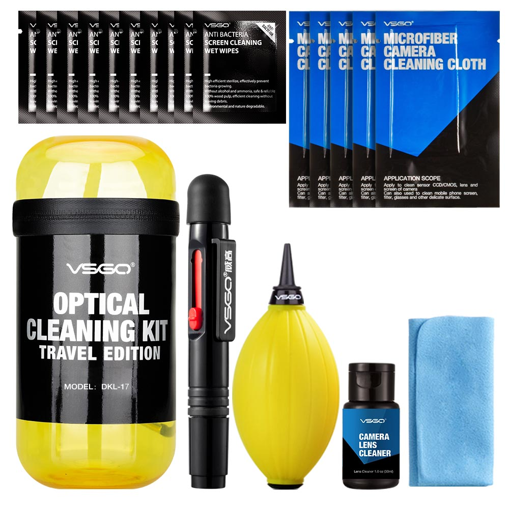 2017 VSGO Professional Portable Lens & Camera Cleaning Kit Travel Edition for Canon Nikon Sony Pentax DSLR SLR Camera Filters DV