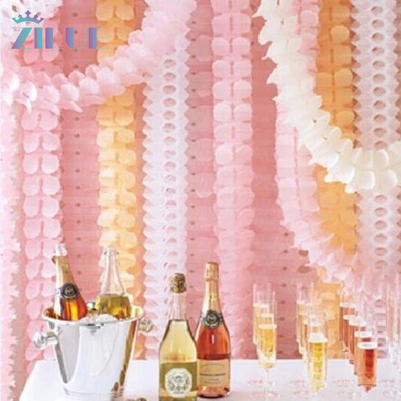 Zilue 1PC/OPP Bag Clovers Paper Garland Wedding Marriage Room Decorate Birthday Party Venue Decoration Shop Wedding Products