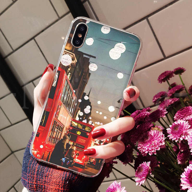 MaiYaCa Multi colored bus london phone booth light 2018 Hot Selling phone case for iPhone 8 7 6 6S Plus X XS max 5 5S SE XR
