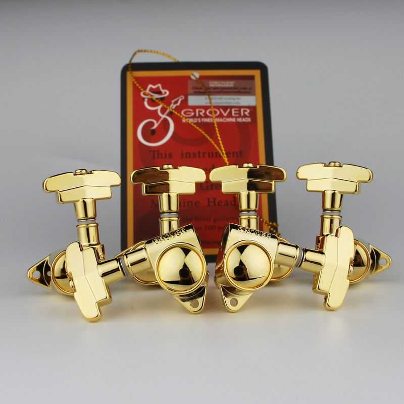 Genuine Grover 109G Super Rotomatic 3x3 tuners Imperial Button Gold