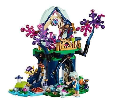 ใหม่ 10697 เอลฟ์ Rosalyn's Healing สถานที่หลบภัยบล็อกอาคารเด็กของเล่นเพื่อการศึกษาอิฐเข้ากันได้กับเลโก้ 41187 ของขวัญที่ดีที่สุด