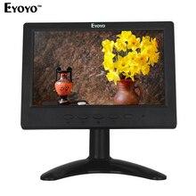 Eyoyo H716 7 inch HD TFT LCD Monitor 1024*600 VGA BNC CCTV Video Display HDMI Monitor For PC CCTV Security Camera Free shipping(China (Mainland))