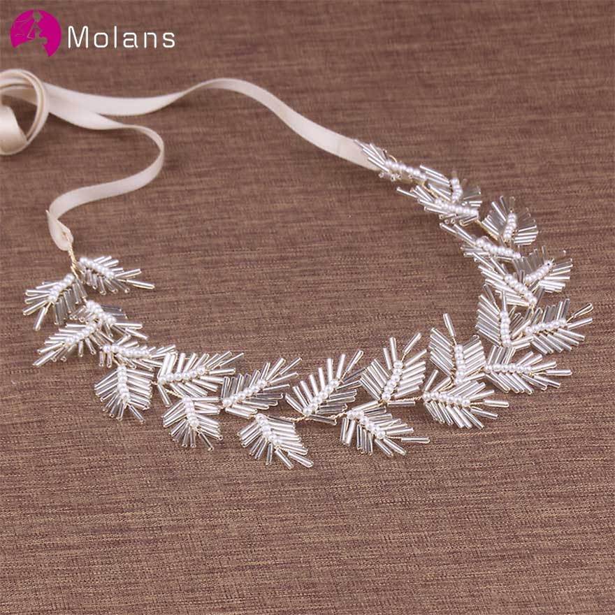 MOLANS Multi Style Exquisite Beading Bridal Hair Jewelry For Wedding European Fashion Pearl Alloy Headbands For Women Headpiece