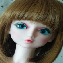 BJD accessories bjd wig brown color 8 to 9 inch head circumference 9 10 inch bjd doll wig double horse silver color sailor moon wig pullip