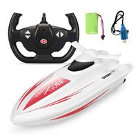 Remote control boat 2.4G high speed electric speed boat model swimming pool lake water racing game toy Hot sale