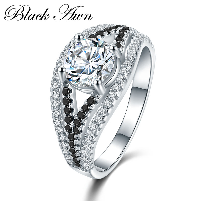 font b BLACK b font AWN 4 5g 925 Sterling Silver Jewelry Wedding font b