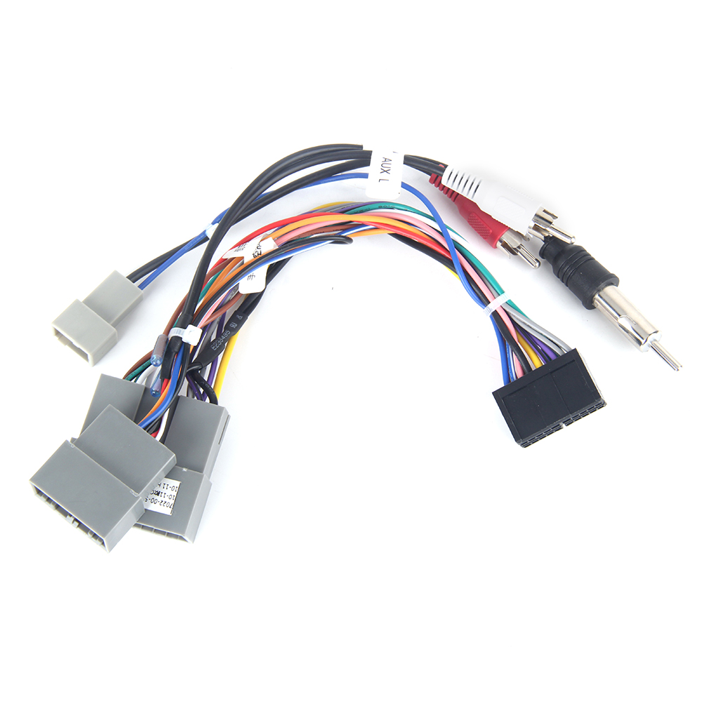 Dasaita DYX014 Car Multimedia ISO Wiring Connector with Radio Antenna Adapter AUX Plug for <font><b>Honda</b></font> Civic <font><b>Crv</b></font> 2006 <font><b>2007</b></font> 2008 2009 image
