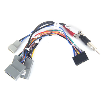 Dasaita DYX018 Car Multimedia ISO Wiring Connector with Radio Antenna Adapter AUX Plug for Honda Civic Crv 2006 2007 2008 2009 image