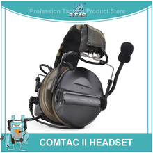 Z Tactical Comtac II Headset Airsoft Paintball Hunting Headset Style Active Noise Canceling Headphone Z041 NEW Color DE HOT SELL цена 2017