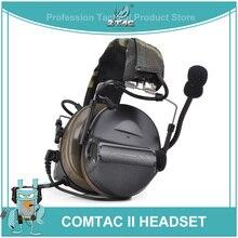Ztac Peltor ยุทธวิธีหูฟังชุดหูฟัง PTT Active การล่าสัตว์ Comtac II การตัดเสียงรบกวน Airsoft Acessorios หูฟังยุทธวิธี Z041