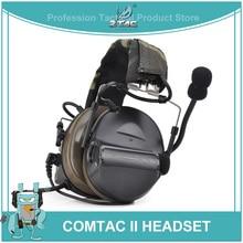 Ztac Peltor Tactical Headset Helm PTT Aktive Jagd Comtac II Noise cancelling Airsoft Acessorios Taktische Kopfhörer Z041