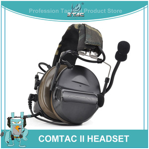 Image 1 - Ztac Peltor Tactical Headset Helmet PTT Active Hunting Comtac II Noise canceling Airsoft Acessorios Tactical Headphones  Z041