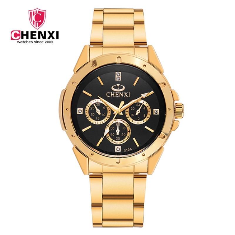 Reloj dorado Nuevo Reloj de oro para hombres Relojes de cuarzo de - Relojes para hombres - foto 1