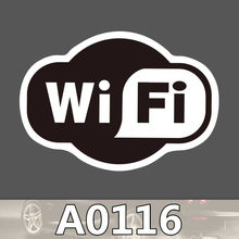 A0116 wifi logo sticker sign shop black white waterproof suitcase laptop guitar luggage skateboard bicycle toy lovely stickers(China)