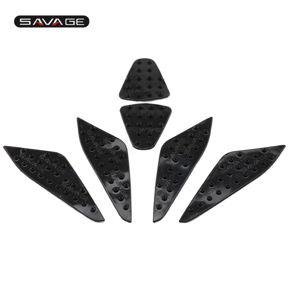 Universal Motorcycle Fuel Tank Traction Pad Protector Sticker Set Anti Slip 3M Knee Grip Protector