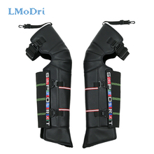 LMoDri Winter Scooter Motorcycle Rider Keeping Warm Kneepad Windproof Warming Knee Pads Legs Protector Thickening Cold-Proof woolen windproof cold proof knee pad off white pair set