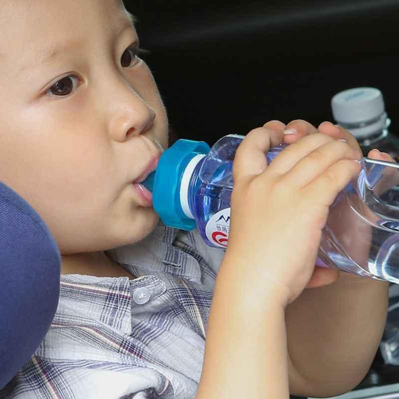 อะแดปเตอร์เด็กทารกขวดเครื่องดื่มหัวนม Leaf แบบพกพาหมวกน้ำขวดอุปกรณ์สำหรับเด็ก
