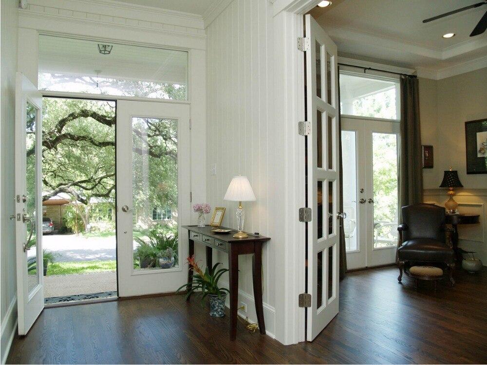 2017 New Style Shaker Square Profiles Highly Durable Solid Wood Door Paint Grade Interior Wood Door Entry Doors ID1606020