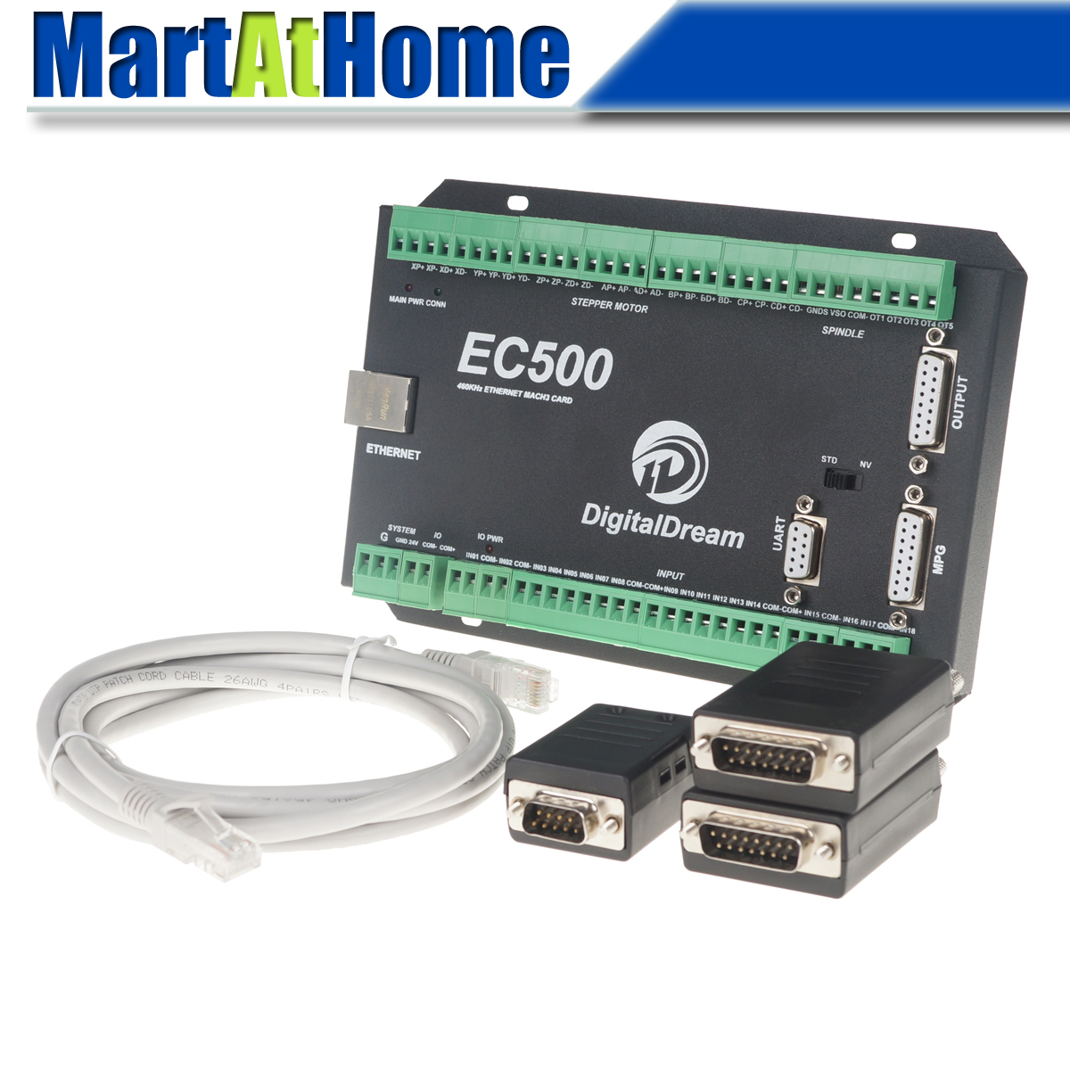 Ethernet 3/4/5/6 axes Mach3 CNC carte de contrôle de mouvement carte de rupture 460 KHz 24 V DC Support Standard MPG & Stepper/Servo pilote