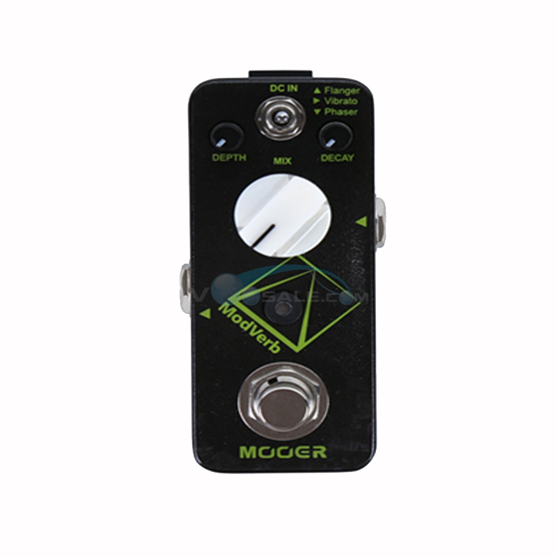 Mooer Modverb High Quality Reverb Guitar Effect Pedal Depth Decay Control Flanger Vibrato Phaser Switch