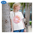 Sea mao 2016 Harajuku Style Women T-shirt The Doughnut Printed White t shirt Fashion Summer Short Sleeve Casual Cute Kawaii Tops