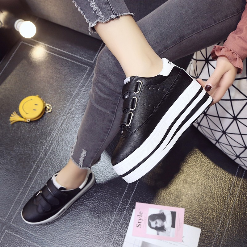 Platform Shoes Women Spring Autumn 2018 New Casual Shoes Woman Lace-Up Oxfords Spring Flats Fashion Solid Women Shoes new high quality women shoes solid black spring autumn brogue shoes woman s fretwork lace up flat heels round toe oxfords shoes