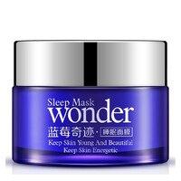 BIOAQUA12Pcs Keine Wasch Blueberry Schlafmaske Creme Essenz Feuchtigkeitsspendende Nachtcreme Anti Aging Anti-falten Feuchtigkeitsspendende Gesichtscreme