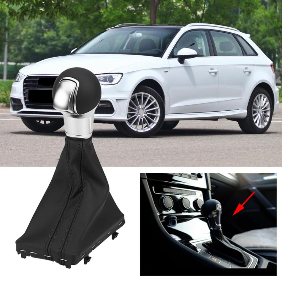 Gear Shift Stick Knob Dust-proof Cover Gaiter Boot Cover for Audi A3 S3 RS3 2014-2018 Gear Shift Knob