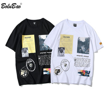 BOLUBAO Brand Men T-Shirts Summer 2020 Fashion Men T Shirts Printing Fashion Men's T Shirt Vintage Hip Hop Style Top Tee queen freddie mercury howl t shirt white hip hop novelty t shirts men s brand clothing top tee summer 2017 100