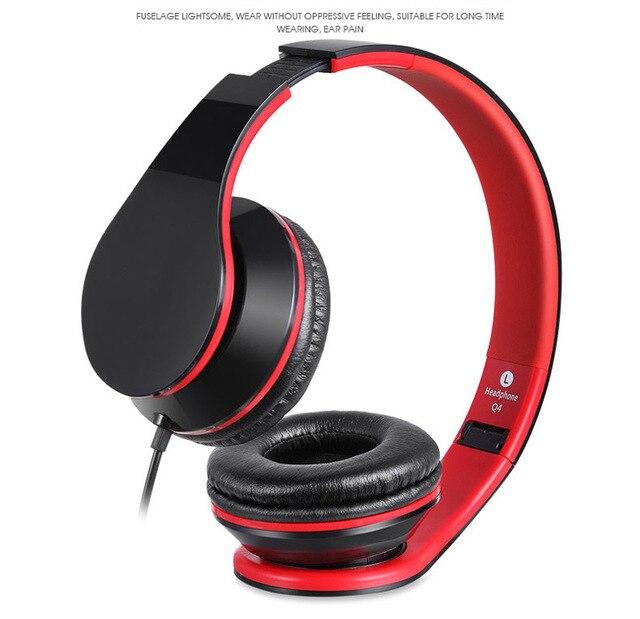 foldable stereo casque audio heaphone 3 5mm wired handsfree headband