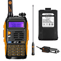 Baofeng GT-3 Mark II de Doble Banda VHF/UHF 136-174/400-520 MHz FM Jamón de Dos vías Radio Walkie Talkie + 1800 mAh Li-ion Batería Adicional