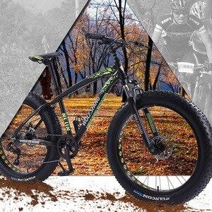 Image 5 - wolfs fang Bicycle Mountain Bike bmx 8 speed Bikes Fat bike mtb road  bikes 26*4.0 Snow Bicycles free shipping