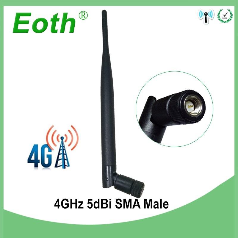 Eoth 4g LTE Antenne SMA mâle Connecteur 5DBI Antenne 698 ~ 960 mhz/1710 ~ 2690 mhz antena 4g Pour Huawei Routeur Sans Fil modem répéteur