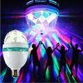E27 3 w led bombilla luz de la etapa de navidad colorida de la noche de luz automático giratoria RGB Bombilla Lámpara Mágica Bola De Luz Del Disco de DJ efecto Del Partido