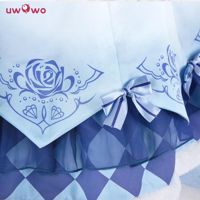 UWOWO Miracle Nikki Costume Spil Dinowo Cosplay Prinsesse Lisa Isblå - Kostumer - Foto 4
