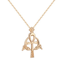 Ankh Pendant Necklace for Women Cross Ancient Religious Egyptian Jewelry Egypt Charm Men Gift Collier Amulet Viking Neckalces(China)