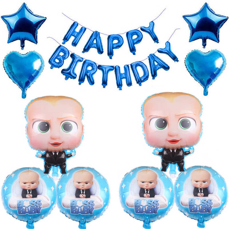 1 סט בוס תינוק רדיד אלומיניום בלוני יום הולדת שמח קריקטורה נושא מסיבת קישוטי Globos ילדי צעצועי תינוק מוצרי אמבטיה צעצועים