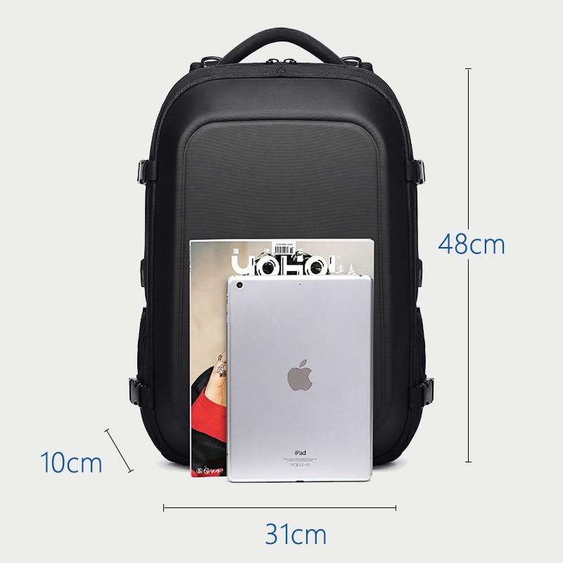 OZUKO multifonction étanche 15.6 pouces sacs à dos d'ordinateur portable homme USB charge grande capacité rucksaké mode mâle Mochila 2019 nouveau - 6